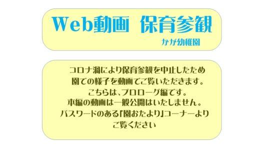 Web動画 保育参観