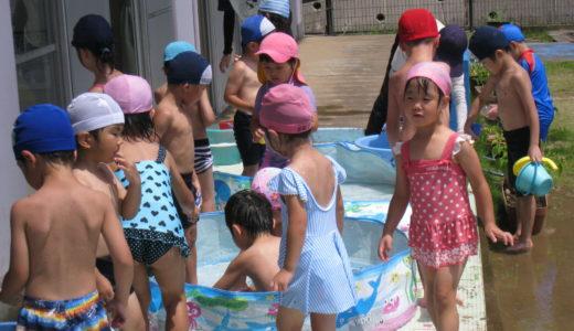 夏の水遊び 8月のある日